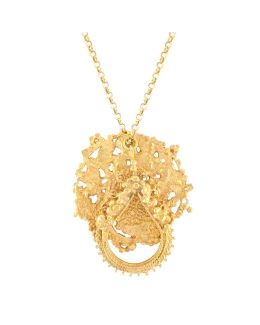 Annabelle Lucilla Jewellery - Metallic Atlas Disk & Sikhara Charm Pendant Gold - Lyst