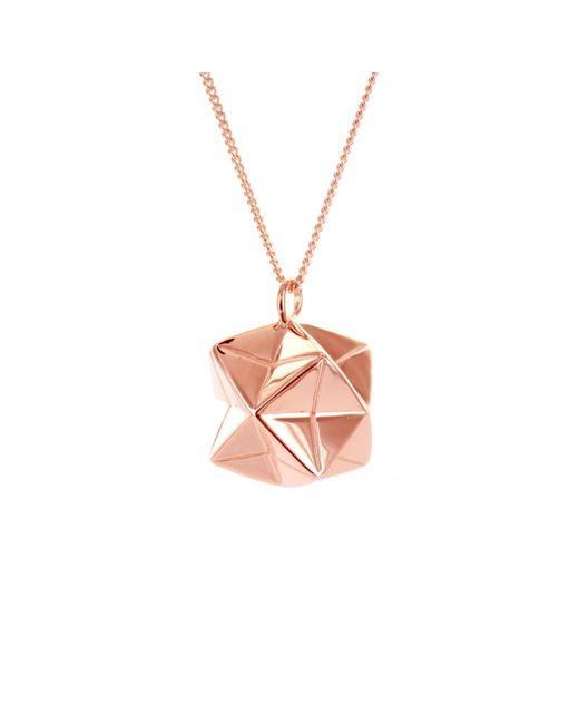 Origami Jewellery Multicolor Magic Ball Necklace Rose Gold