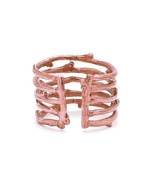 Chupi - Multicolor Love Is All You Need Twig Ring In Rose Gold - Lyst