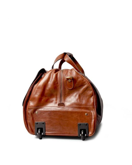 Maxwell Scott Bags Luxury Italian Leather Large Wheeled