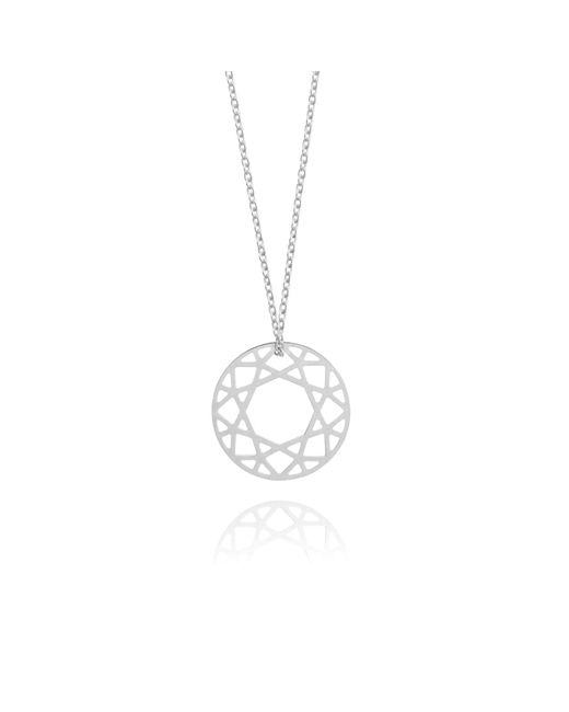 Myia Bonner - Metallic Small Silver Brilliant Diamond Necklace - Lyst