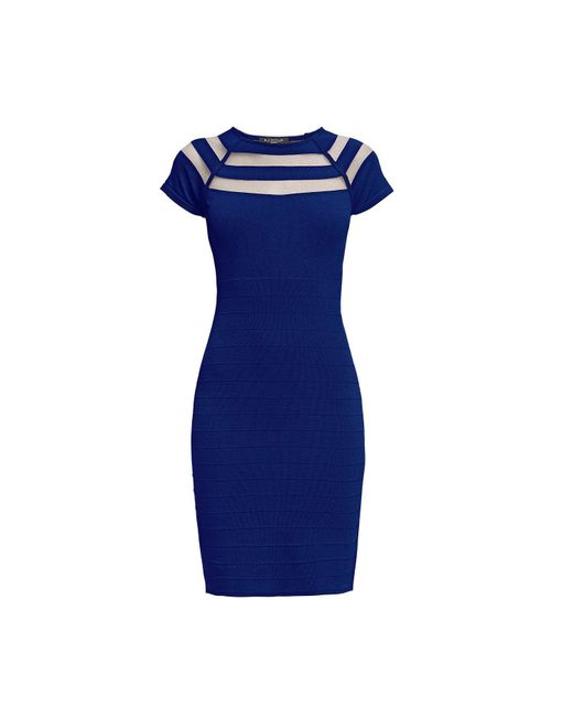 Rumour London - Catherine Blue Bodycon Dress With Cut-out Detail - Lyst