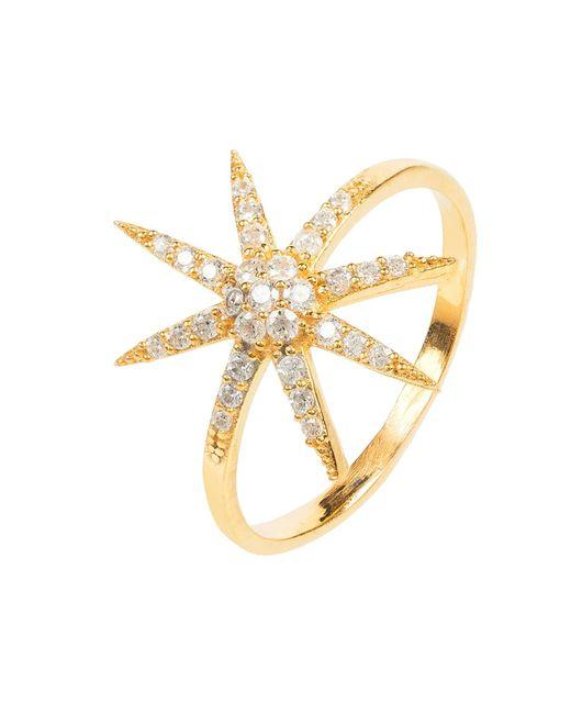Latelita London - Metallic Star Burst Ring Gold - Lyst