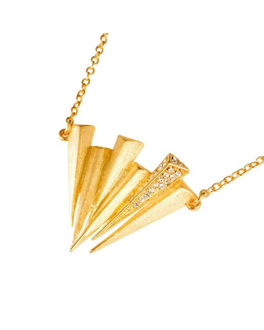 Ona Chan Jewelry | Metallic Six Dagger Necklace With Swarovski Crystals Gold | Lyst