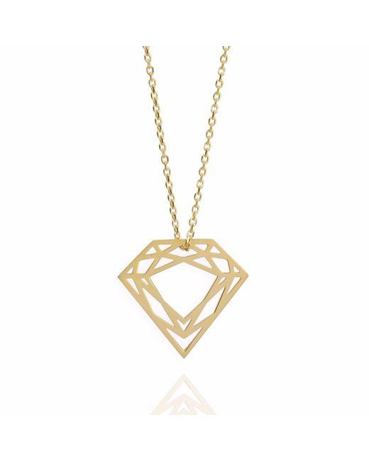 Myia Bonner Metallic 9k Gold Classic Diamond Necklace