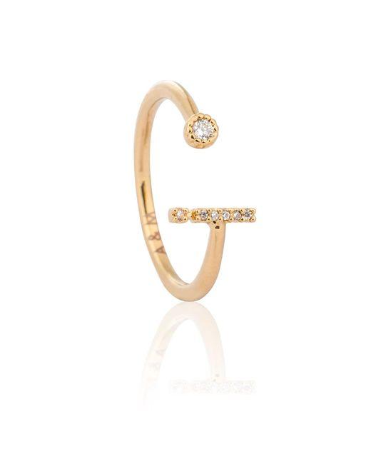 Astrid & Miyu - Metallic Gold Initial I Ring - Lyst