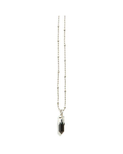Kasun | Black Bullet Necklace Silver | Lyst