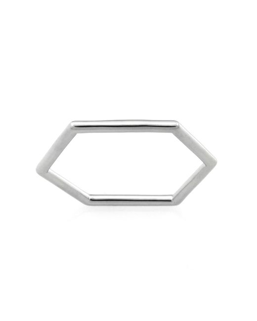 Monarc Jewellery   Metallic The Classic Hexi Stacker Ring Sterling Silver   Lyst