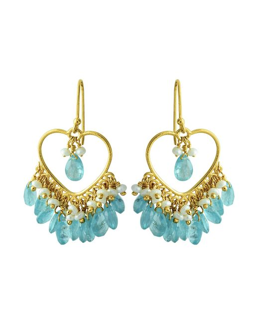 Carousel Jewels | Blue Apatite & Pearl Dangle Earrings | Lyst