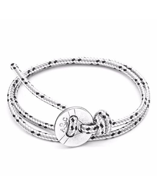 Anchor & Crew | Gray Grey Dash Lerwick Silver & Rope Bracelet for Men | Lyst