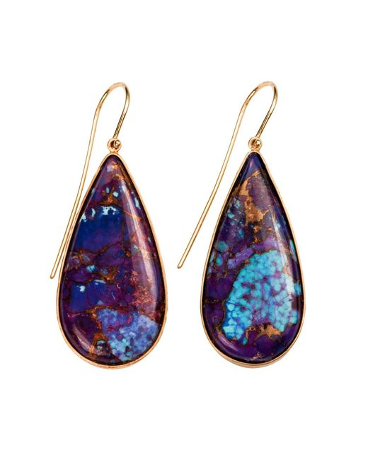 Xanthe Marina | Blue Kingman Purple Turquoise Earrings | Lyst