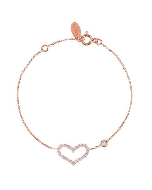 Latelita London Multicolor Open Heart Bracelet Rosegold