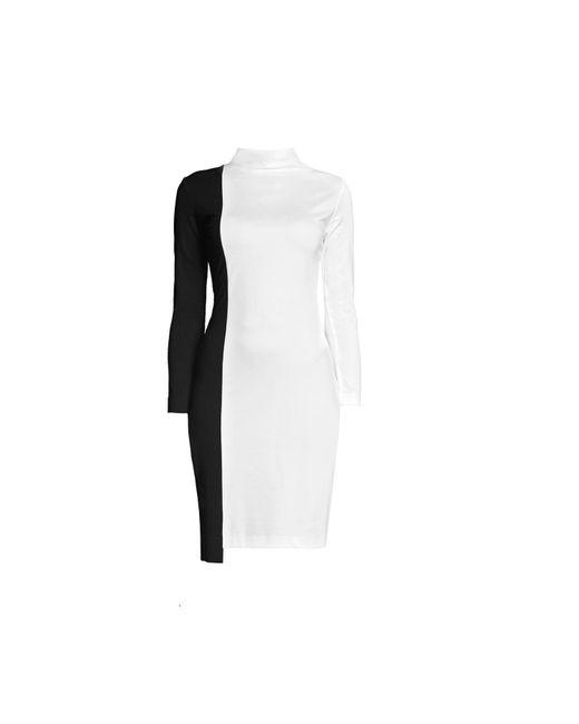 Rumour London - White Day & Night Monochrome Dress With Asymmetric Hem - Lyst
