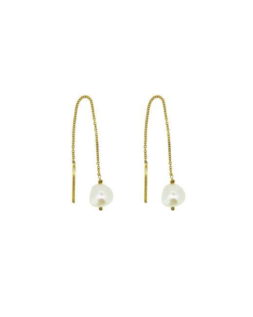 Yvonne Henderson Jewellery - Metallic Pearl Thread Through Drop Earrings - Lyst