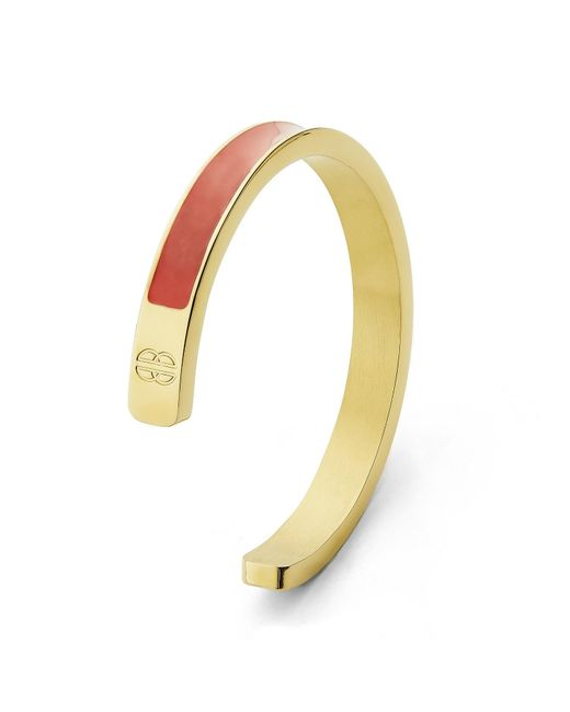 Whistle & Bango | Metallic Coral + Gold Solid Cuff | Lyst