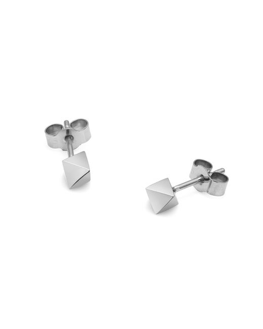Myia Bonner - Metallic Silver Octahedron Stud Earrings - Lyst