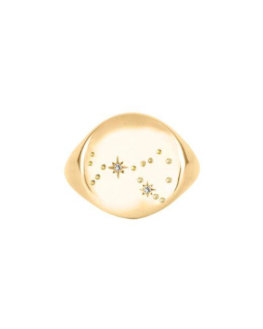 No 13 - Metallic Scorpio Constellation Signet Ring Diamonds & 9ct Gold - Lyst
