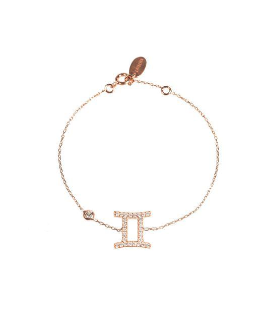 Latelita London - Metallic Zodiac Bracelet Rosegold Gemini - Lyst