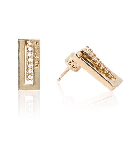 Astrid & Miyu - Metallic Line Ear Jacket In Gold - Lyst