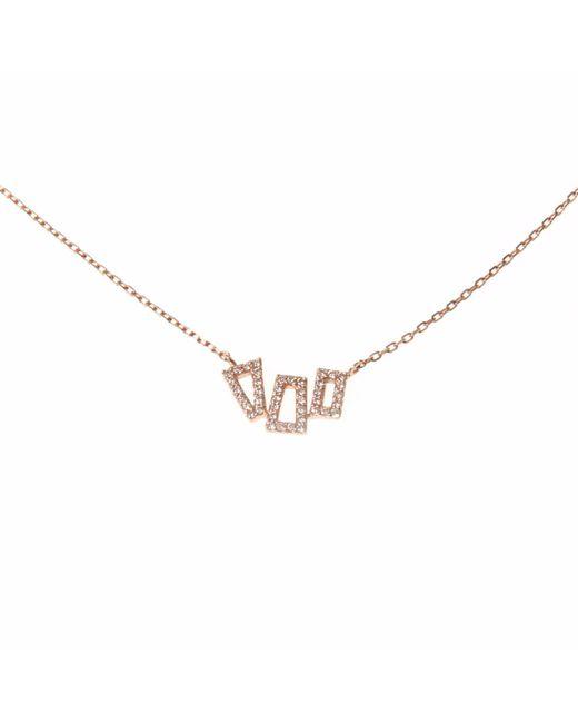 Ri Noor | Metallic Geometric Diamond Necklace | Lyst