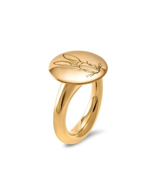 Hargreaves Stockholm - Metallic Bracteate Gold Signet Ring - Lyst