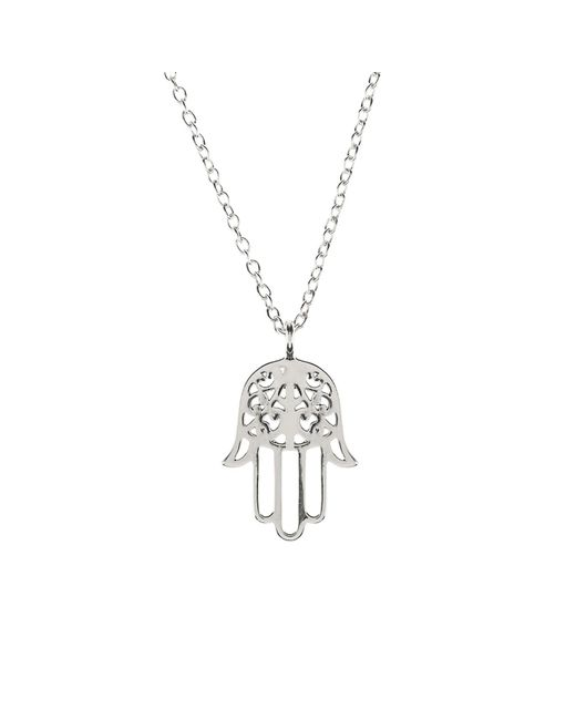 Latelita London | Metallic Cosmic Hamsa Necklace Silver | Lyst