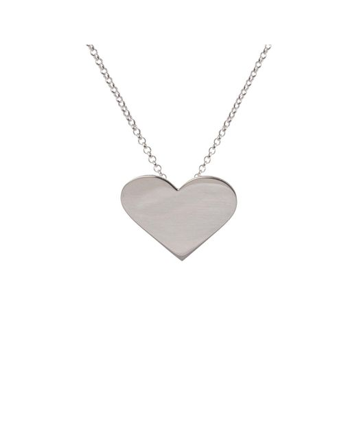 Edge Only | Metallic Heart Pendant Silver | Lyst