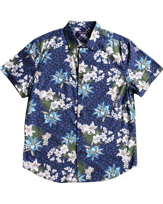 Lords of Harlech | Blue Floral Short Sleeve Button Down Shirt for Men | Lyst