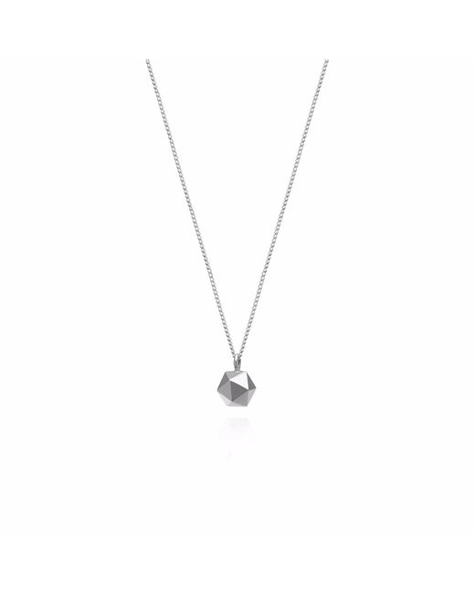 Myia Bonner - Metallic Silver Mini Icosahedron Necklace - Lyst