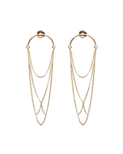 Dutch Basics | Metallic Boog Drop Earrings Arch Gold | Lyst