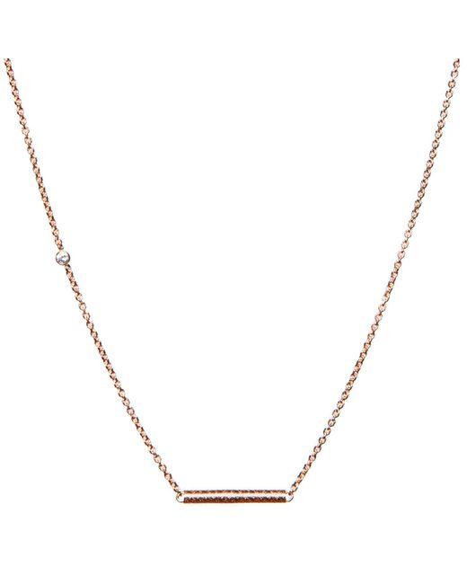 Dutch Basics - Pink Cylinder Fine Chain Necklace Rose Gold - Lyst