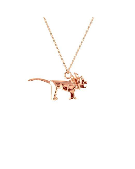 Origami Jewellery - Multicolor Mini Lion Rose Gold - Lyst