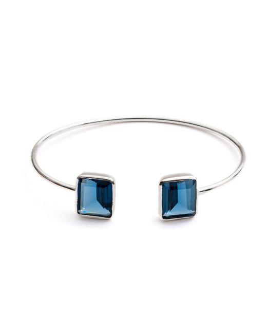 Azuni London | Metallic Alexia Prism Bangle In Silver & Iolite | Lyst