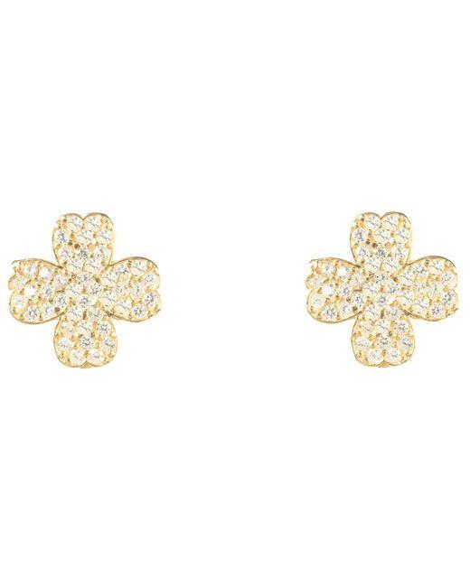 Latelita London - Metallic Lucky Four Leaf Clover Earring Gold - Lyst
