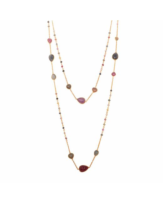 Carousel Jewels | Metallic Multicoloured Sapphire Chain Necklace | Lyst