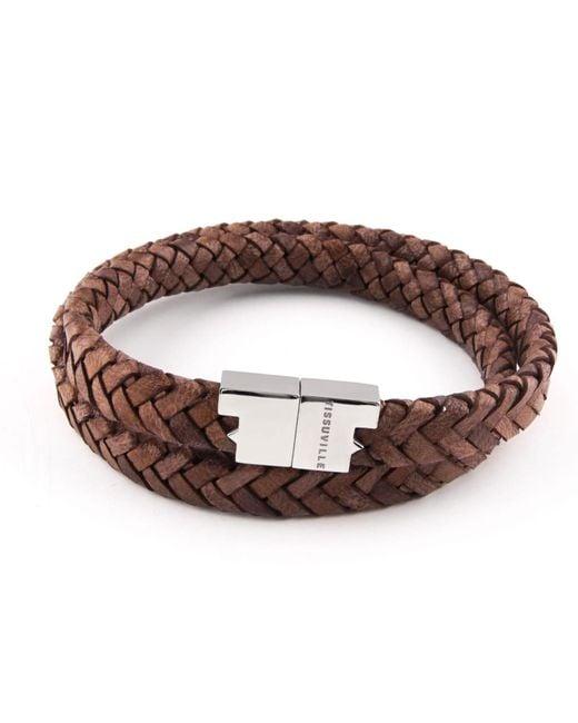 Tissuville - Stark Bracelet Tobacco Brown Silver for Men - Lyst