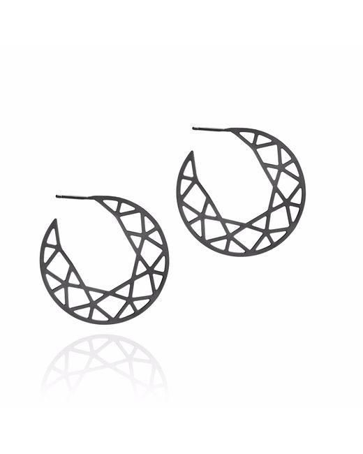 Myia Bonner Black Brilliant Diamond Hoop Earrings