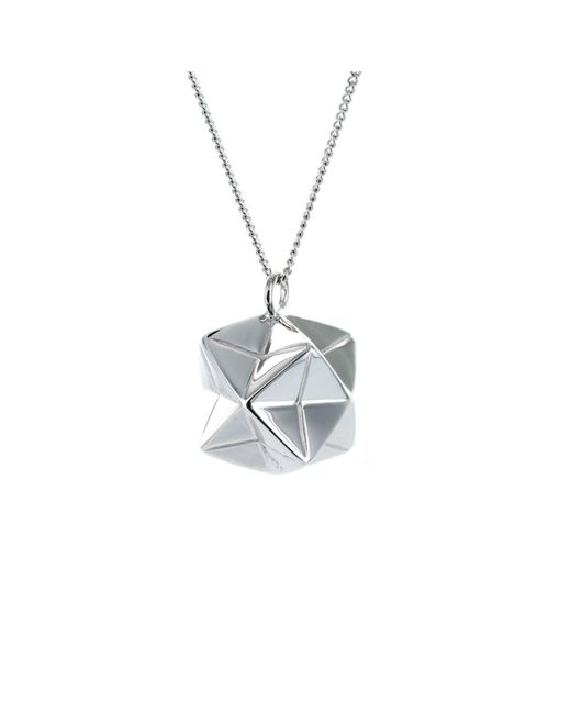 Origami Jewellery Metallic Magic Ball Necklace Sterling Silver