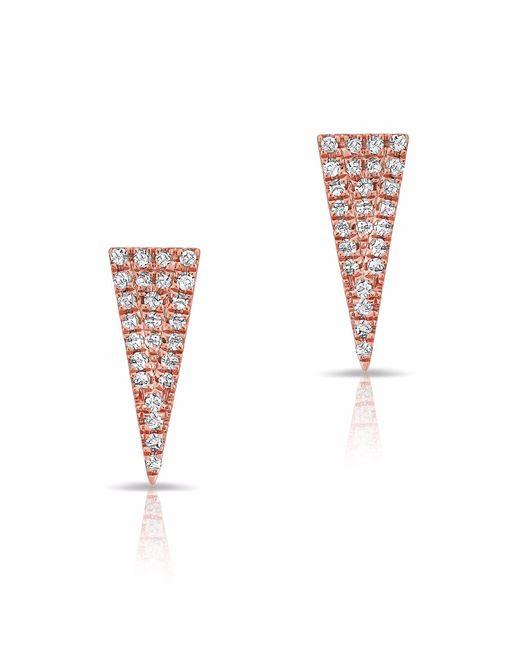 Anne Sisteron - Multicolor 14kt Rose Gold Diamond Mini Long Triangle Stud Earrings - Lyst