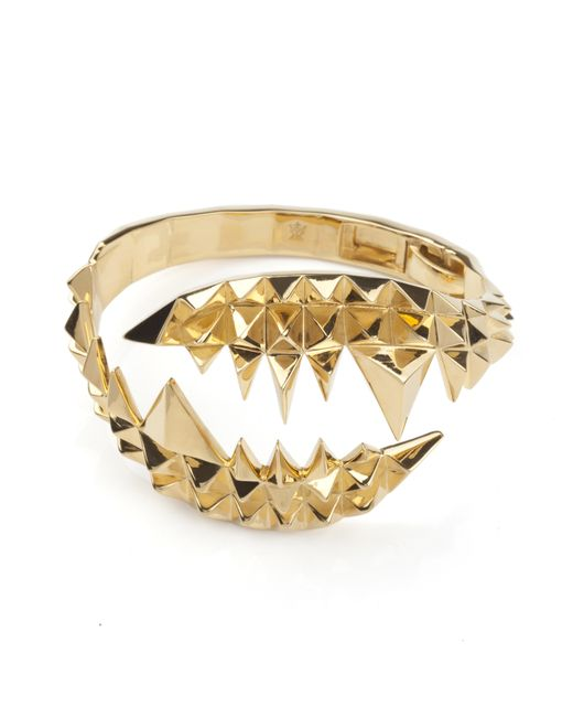 Kasun Metallic Fang Bangle Gold