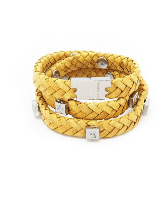 Tissuville - Multicolor Brio Bracelet Mustard Silver - Lyst