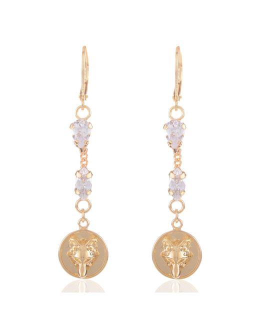 Alexa K | Metallic Gold Crystallised Earrings | Lyst