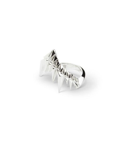 Kasun - Metallic Shark Bay Ring Silver - Lyst