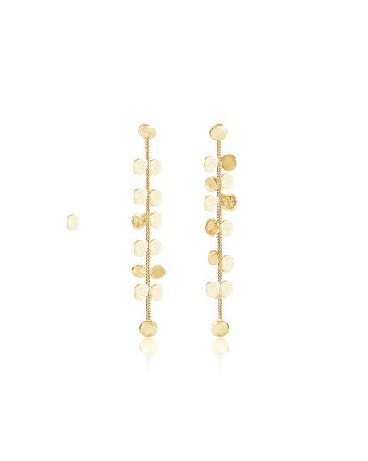 Lily Flo Jewellery - Metallic Dahlia Solid Gold Stud Earrings - Lyst