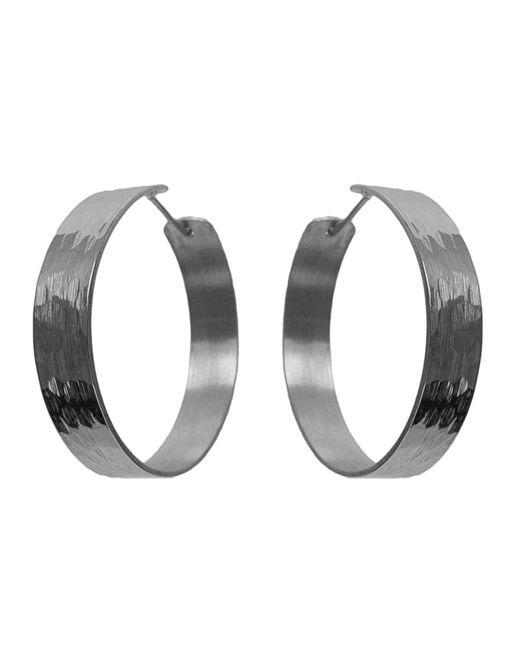 Dutch Basics - Metallic Medium Creole Earrings - Lyst