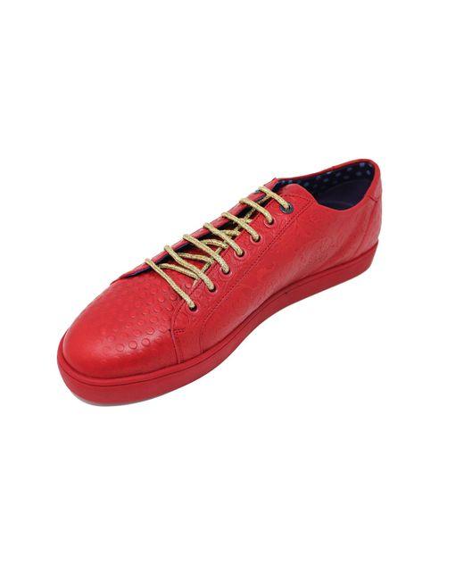 Lords of Harlech Trevor Sneaker In Red for men