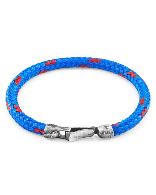 Anchor & Crew - Blue Paignton Silver & Rope Bracelet for Men - Lyst