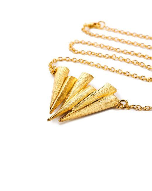 Ona Chan Jewelry | Metallic Six Daggar Necklace Gold | Lyst