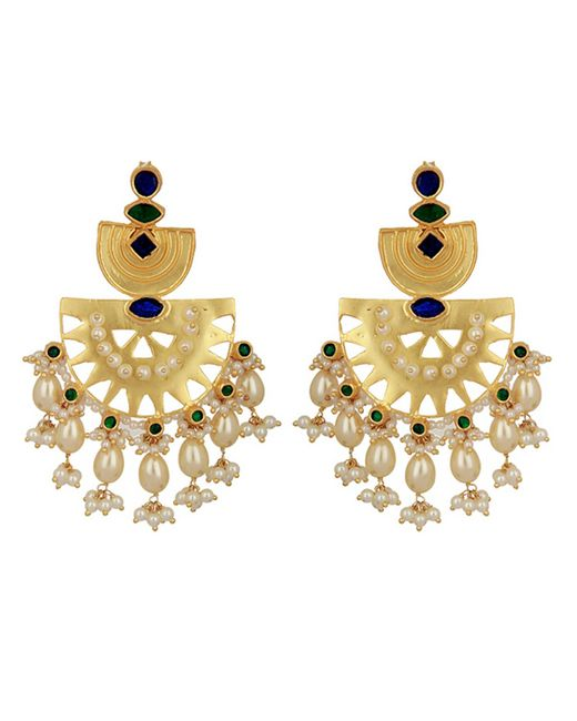 Carousel Jewels Metallic Statement Heritage Earrings