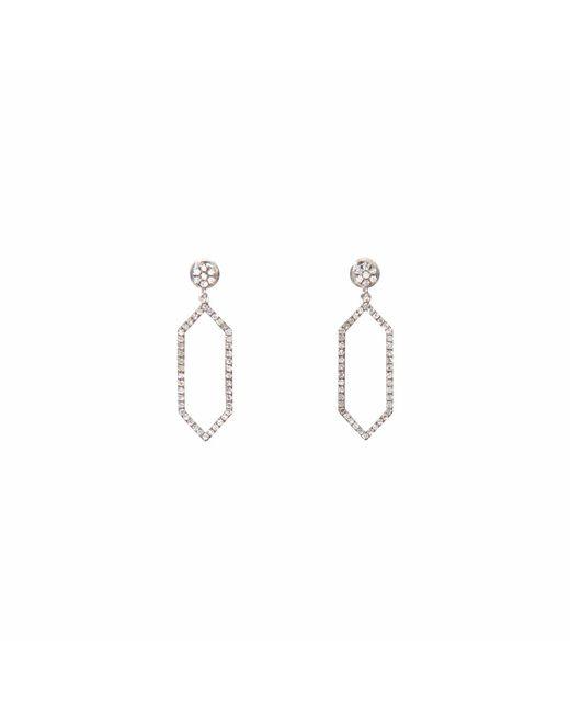 Ri Noor | Metallic Hexagon Hanging Earrings | Lyst